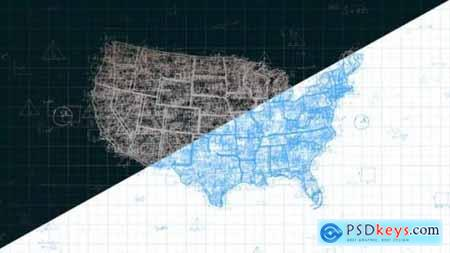 Videohive Abstract Math USA Map Pack Full HD 24631428