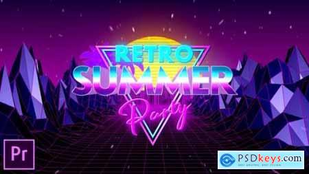 Videohive Retro Summer Party Opener Premiere Pro 24605502