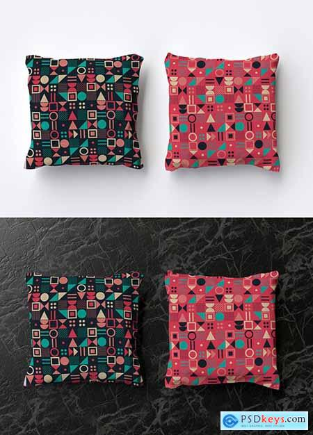 Mockup of 2 Square Pillows 286893918