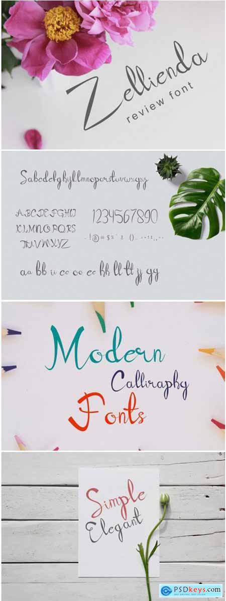 Zellienda Font