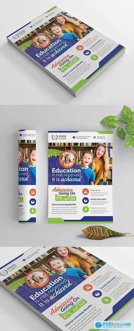 Multicolored School Flyer Layout 269583837