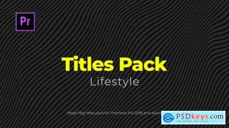 Videohive Lifestyle Titles Pack 24005265