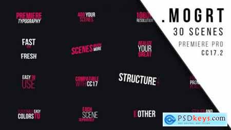Videohive Premiere Typography MOGRT 22161857