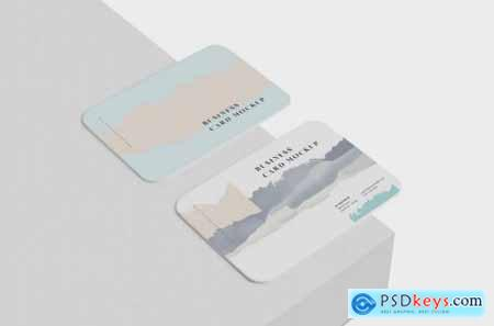 Business Card Mockup Round Corners