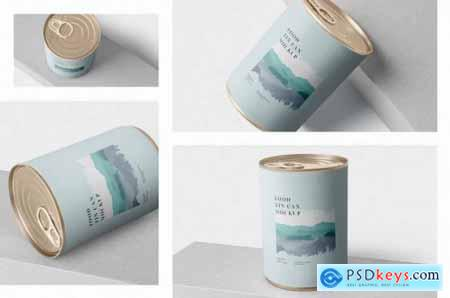 Food Tin Can Mockup