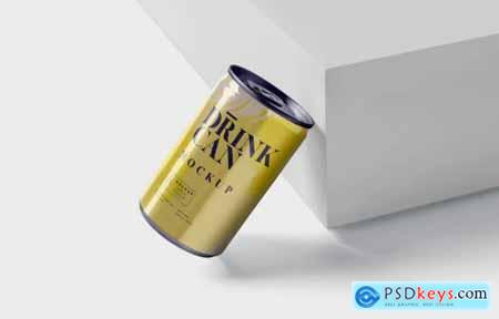 Small Drink Can Mock-Up
