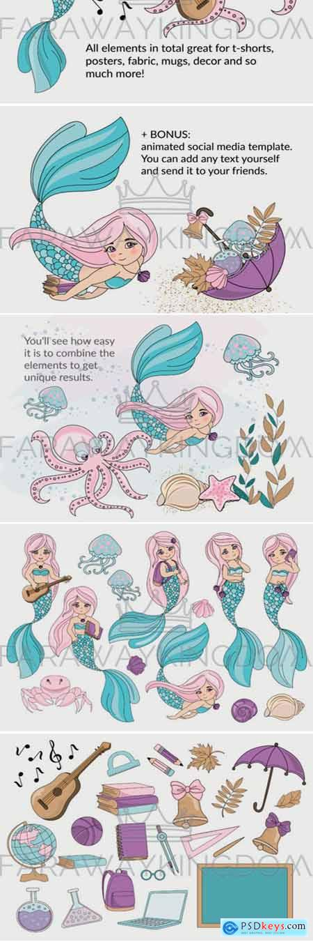 MERMAID SCHOOL Illustration Animation 1778844