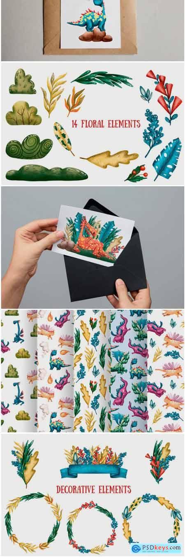 Cute Dragons Clip Art Set 1778487