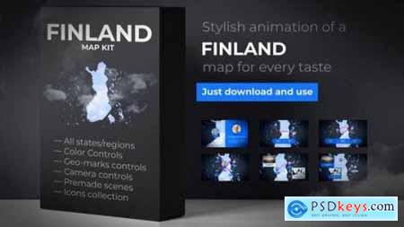 Videohive Finland Map Republic of Finland Map Kit 24665522