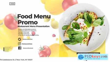 Videohive Food Menu Promo 24554782