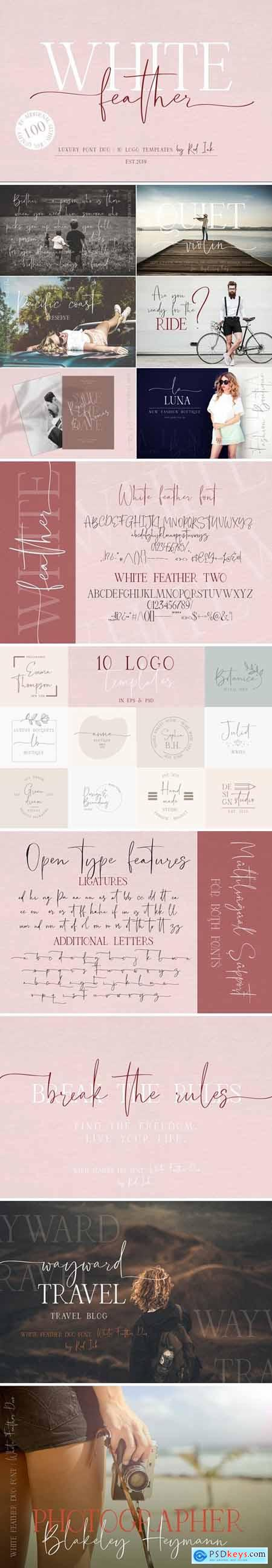White Feather Luxury Duo Font 3951192