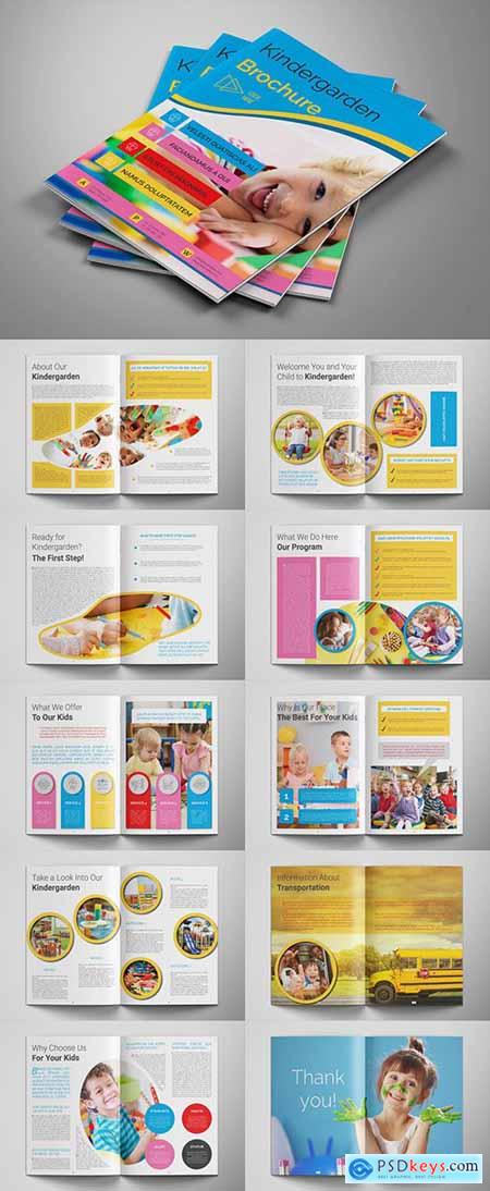 School Brochure Layout with Colofrul Accents 285717681