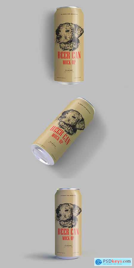 Soda Beer Can Mockup Set