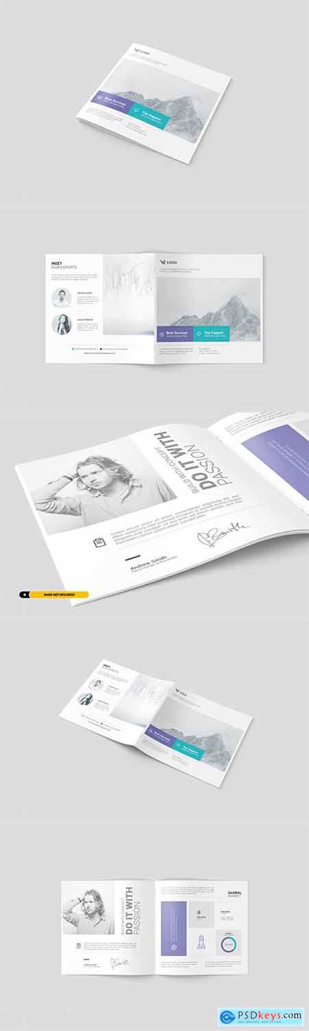 Square Brochure Mockup Set