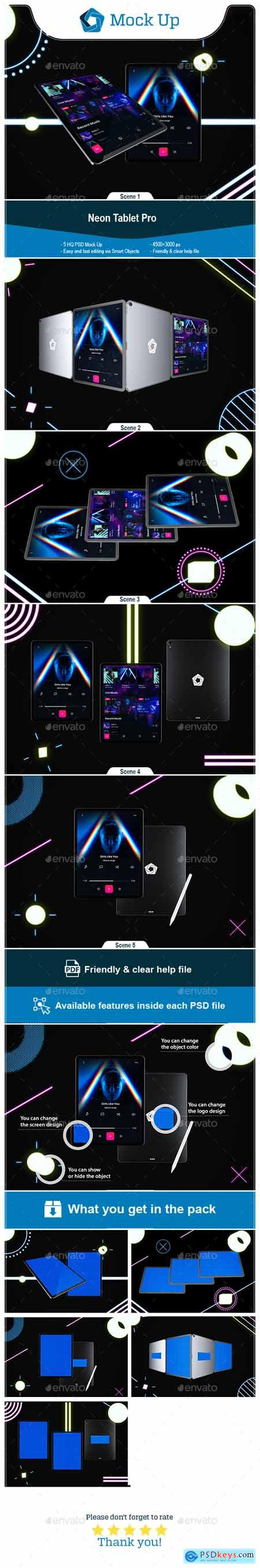 Neon Tablet Pro Mockup 24681306