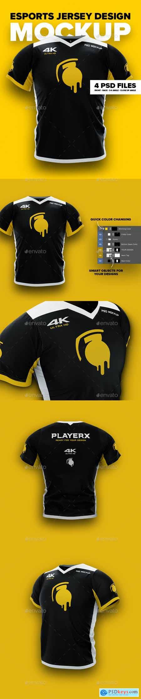 4K Esports Jersey Design Mockup 24682108