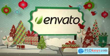 VideoHive Holiday Pop Up Book Logo Opener 756013