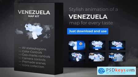 VideoHive Venezuela Map Bolivarian Republic of Venezuela Map Kit 24580488