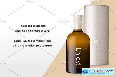 Olive Oil Bottle Mockup 3 3538786