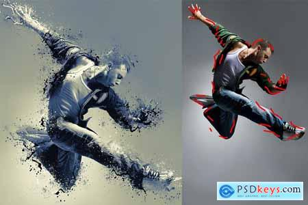 Shatter Photoshop Action 4077209