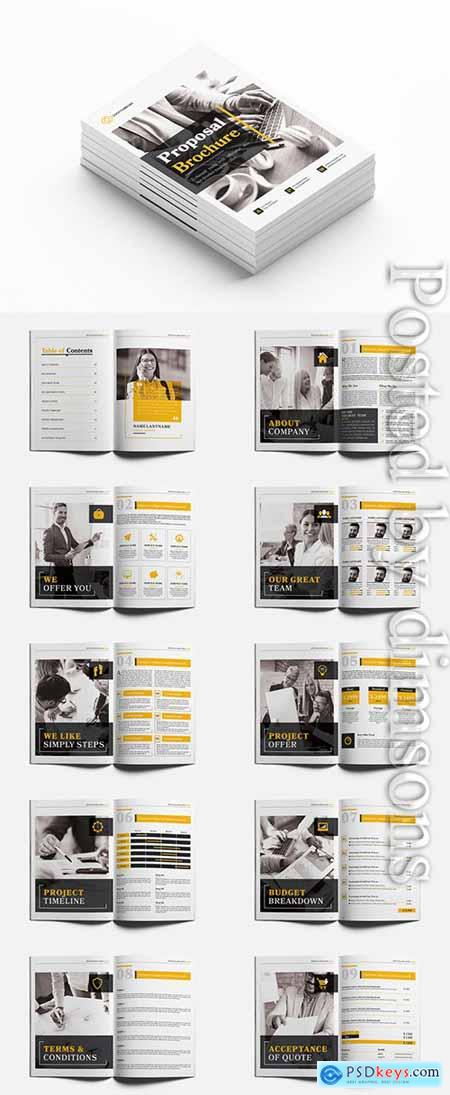 Business Proposal Layout with Yellow Accents 236511347