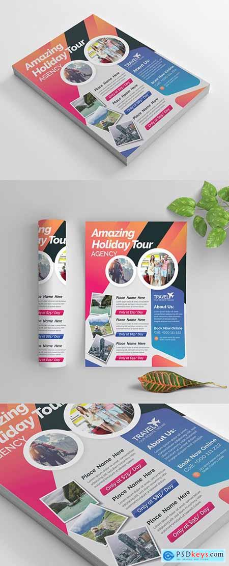 Brightly Colored Agency Flyer Layout 269035286