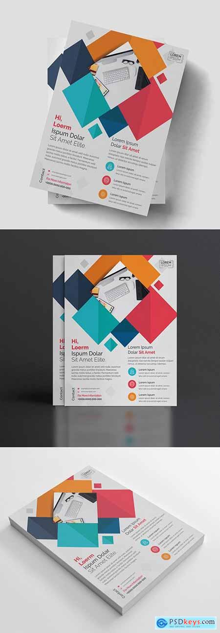 Colorful Geometric Flyer Layout 211149981