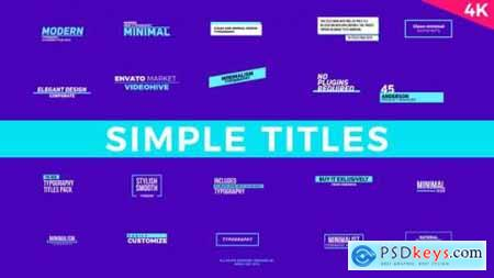 Videohive Simple Titles FCPX or Apple Motion 23165793