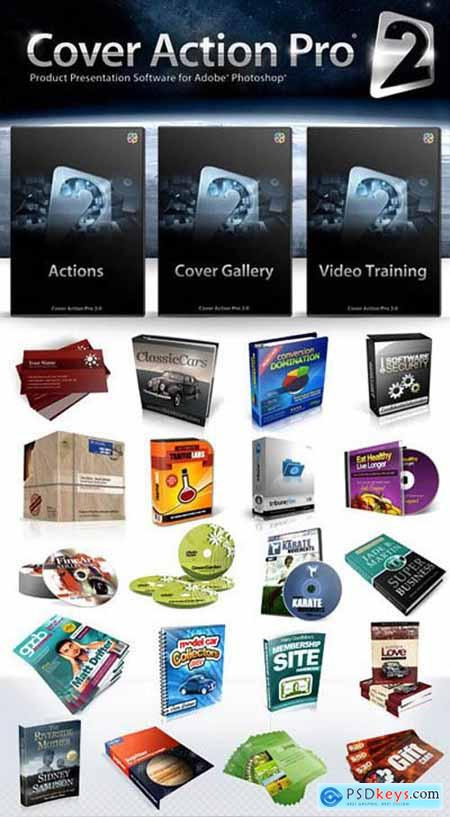 Cover Action Pro 2 - Product Presentation Software for Adobe Photoshop [DVD FULL]