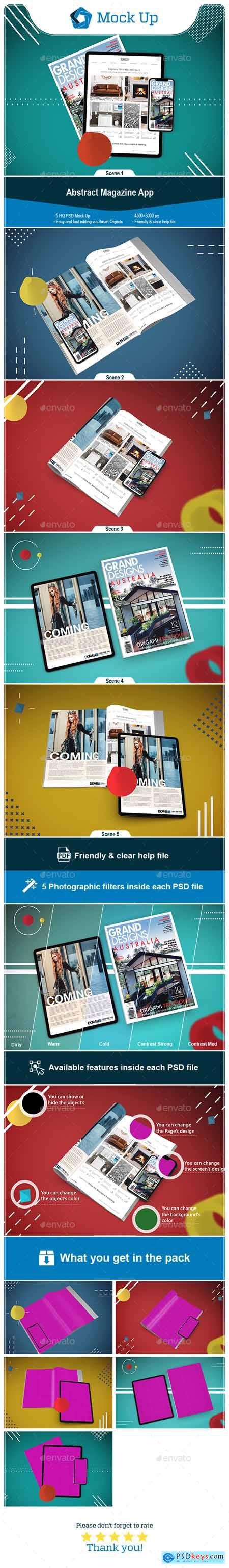 Abstract magazine App MockUp 24696891