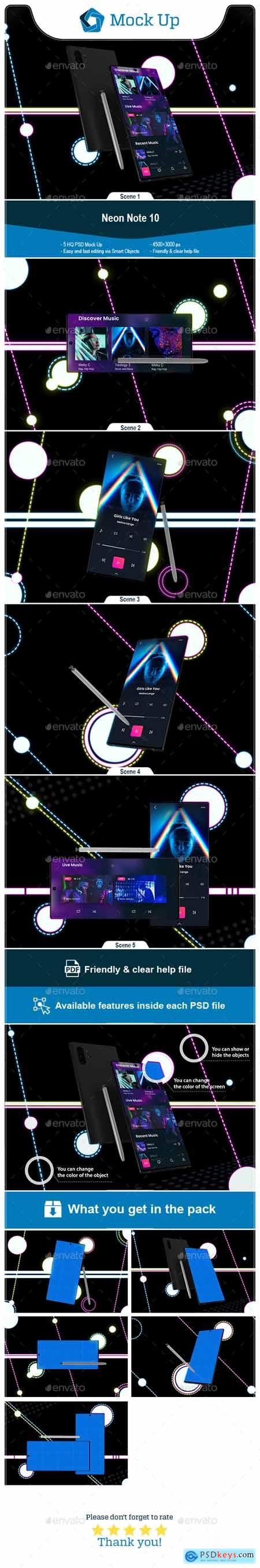 Neon Note 10 MockUp 24696870