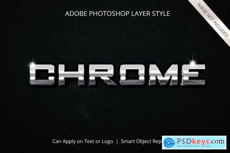 14 Chrome Effect Layer Style 4124153
