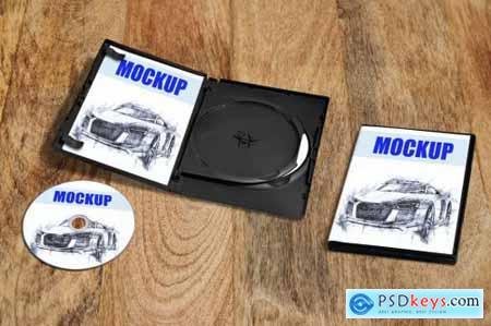 DVD CD packaging Mockup
