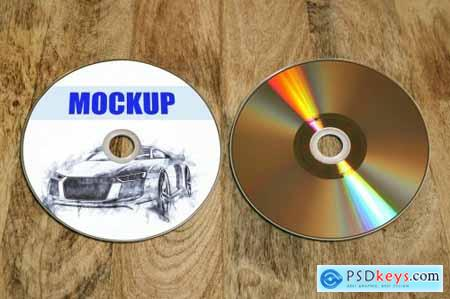 Recto Verso Dvd-Cd-Disc mockup