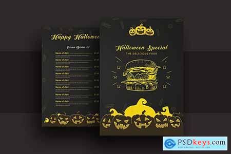 Halloween Special Restaurant Food Menu V-2