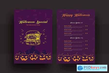 Halloween Special Restaurant Food Menu
