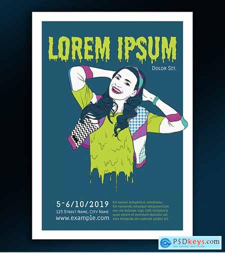 Event Poster Layout with Illustrative Elements 291540256