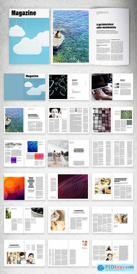 Minimalist Magazine Layout 289155754