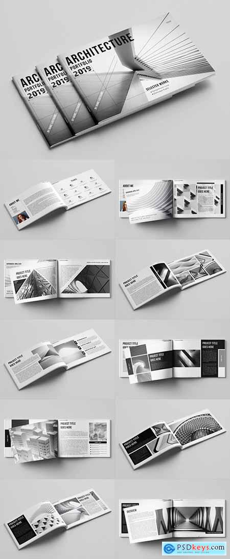 Portfolio Layout with Gray Accents 282703298