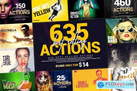 635 Best Selling Actions Bundle