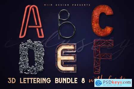 3D Lettering Mega Bundle 8 Industry 3074974