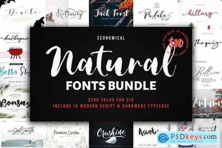 Natural Font Bundles 3750908