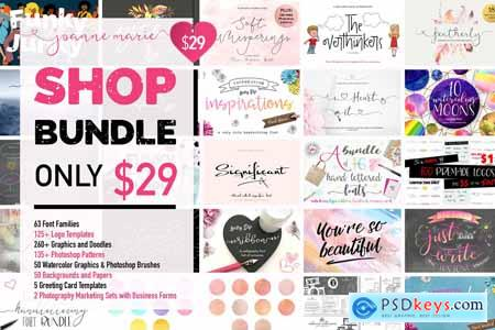 Shop Bundle - Fonts, Logos, Patterns 3110842