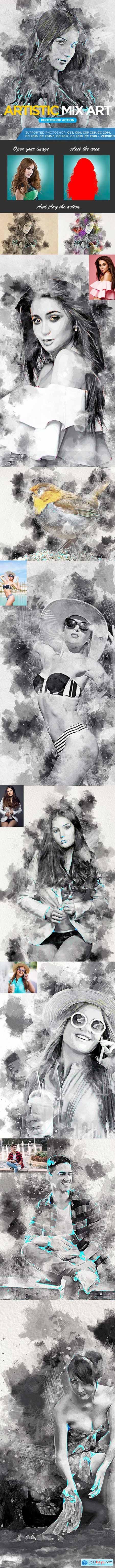 Artistic Mix Art Photoshop Action 22907668