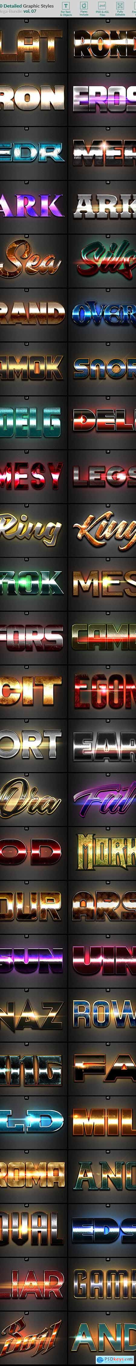 50 Text Effects - Bundle Vol. 07 23026115
