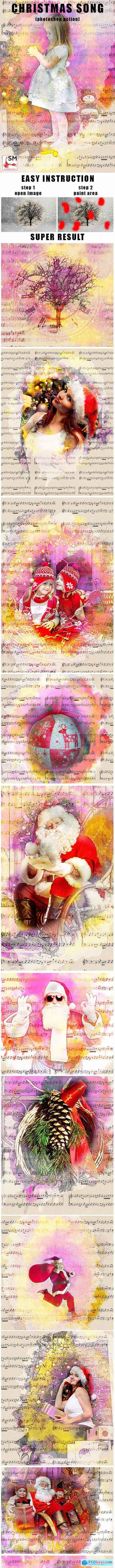 Christmas Song Photoshop Action 21141296