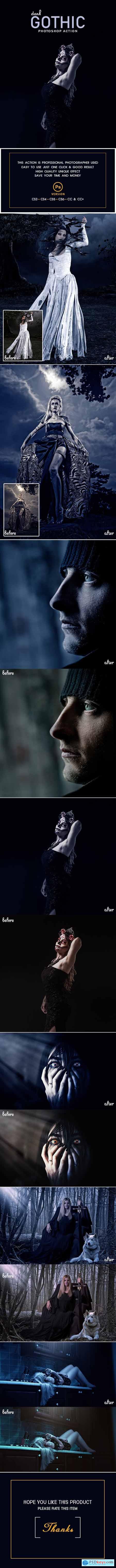 Dark Gothic Photoshop Action 23030478