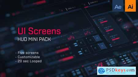 VideoHive HUD UI Screens 2435676