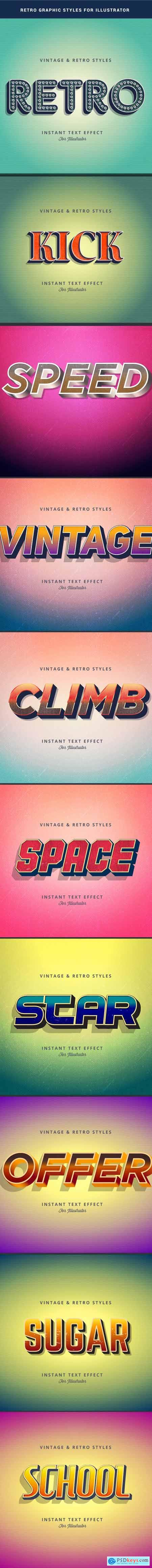 Retro Text Effect for Adobe Illutrator 22959941
