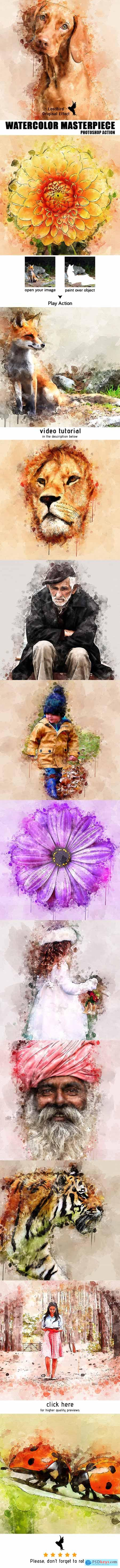 Watercolor Masterpiece - Photoshop Action 22921333